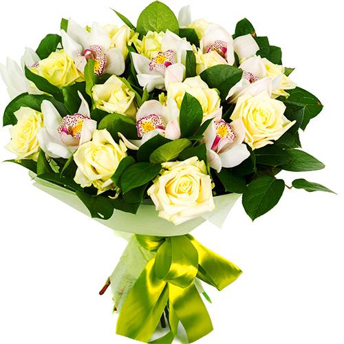 """""""Моя звезда"""". Букет орхидей и роз"""